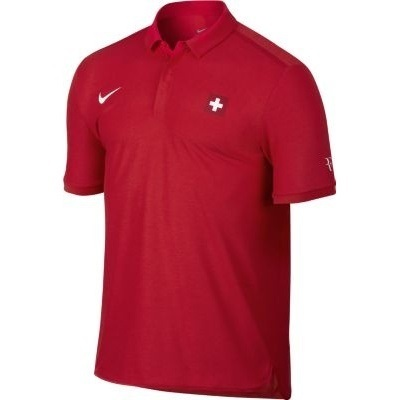 buy online catch unique design Nike Roger Federer Swiss Davis Cup & Olympic Game Cross RF Tennis Polo  Shirt, Red