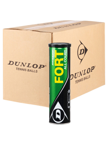 Dunlop Fort All Court Tennis Balls 18 X 4 Ball Can