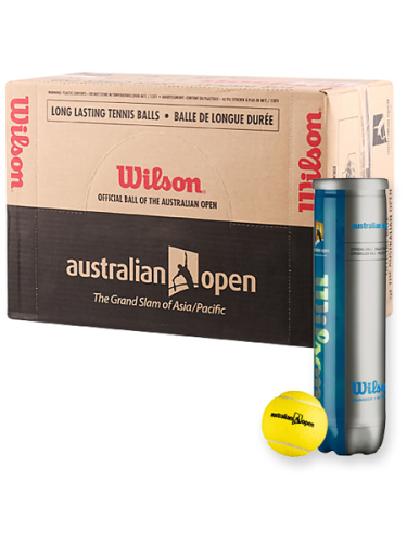 Wilson Australian Open Tennis Balls  18 X 4 Ball Can