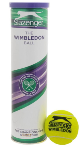 Slazenger Wimbledon Open Tennis Balls 4 Ball Can