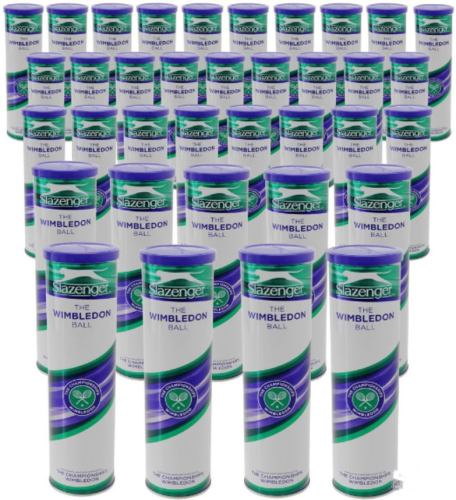 Slazenger Wimbledon Open Tennis Balls 36 X 4 Ball Can
