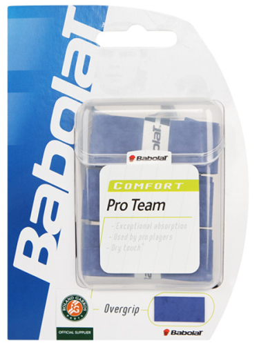 Babolat Pro Team Overgrips 3 Pack Blue