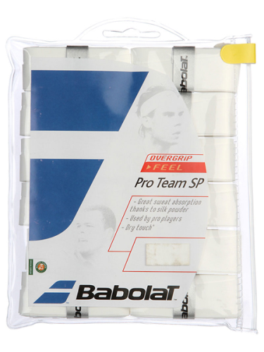 Babolat Pro Team SP Overgrip 12 Pack White