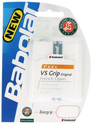 Babolat French Open VS Overgrip White 3 Pack
