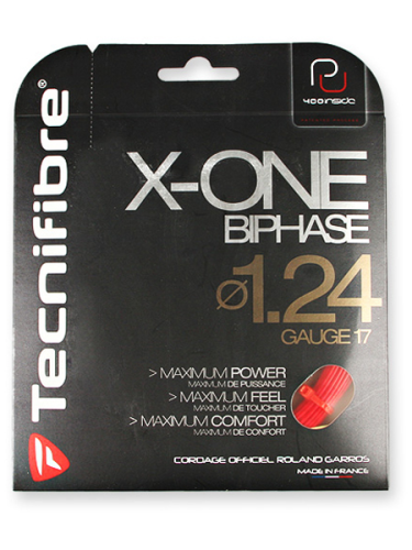 Tecnifibre X-One Biphase 1.24 Tennis String Red 12.2m Set