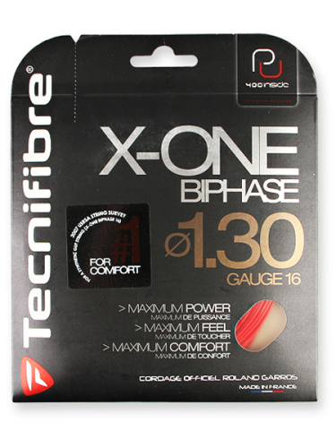 Tecnifibre X-One Biphase 1.30 Tennis String Red 12.2m Set