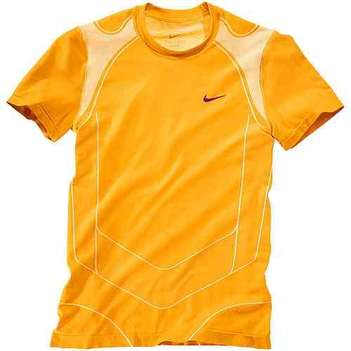 Nike Rafael Nadal 2010 London ATP Master Final Vamos Court Tennis Crew Shirt Orange / Purple