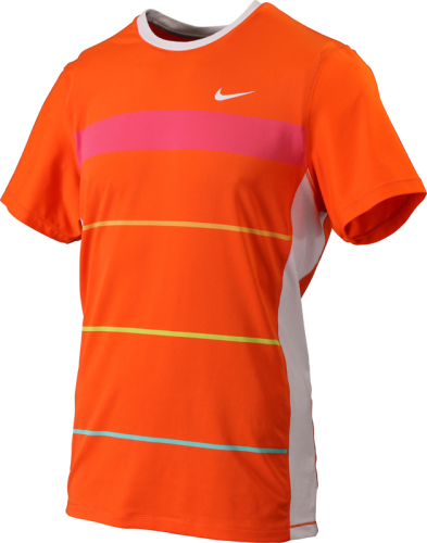 Nike Rafael Nadal 2010 Australian Open Rush & Crush RAFA Tennis Crew Shirt Orange
