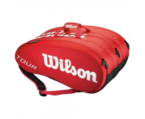 Wilson Tour Molded 15 Pack Tennis Racket Bag Red / White