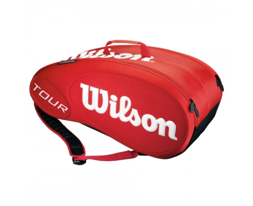 Wilson Tour Molded 9 Pack Tennis Racket Bag Red / White