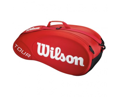 Wilson Tour Molded 6 Pack Tennis Racket Bag Red / White