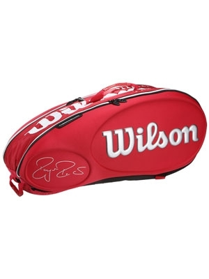 Wilson Roger Federer Moulded 9 Pack Tennis Racket Bag Red / White LImited Edition