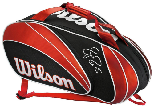 Wilson Roger Federer Tour 9 Pack Tennis Racket Bag Red / Black