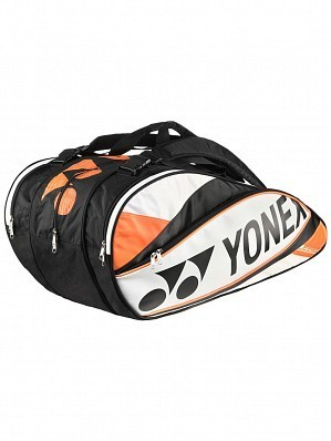 Yonex Pro Series 9 Pack Tennis Racket Bag White / Orange