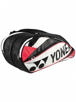 Yonex Pro Series 6 Pack Tennis Racket Bag White / Red