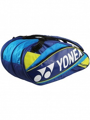 Yonex Pro Series 6 Pack Tennis Racket Bag Blue / Yellow