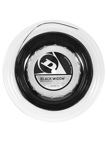 Dunlop Black Widow 16 1.31mm Tennis String 200m Reel