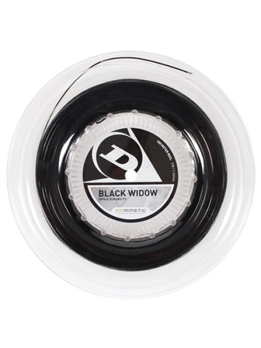Dunlop Black Widow 17 1.26mm Tennis String 200m Reel