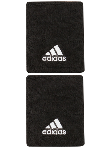 Adidas Large Double Width Logo Tennis Wristbands Black