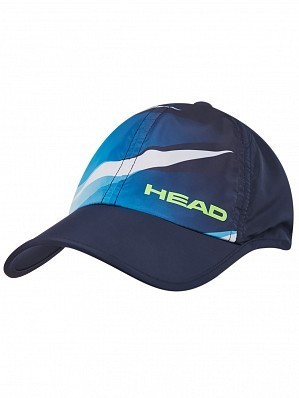 Head Logo Light Function Pro Tennis Cap Hat Navy