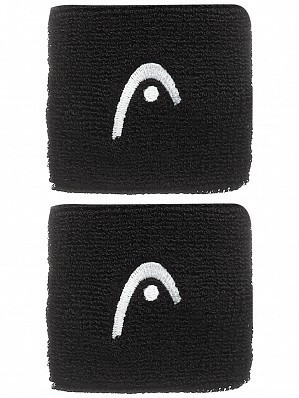 Head WTA Tour Pro Play Cotton Logo Tennis Wristbands Black