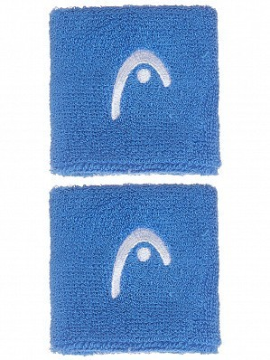 Head WTA Tour Pro Play Cotton Logo Tennis Wristbands Blue