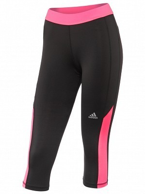Adidas Women's Pro WTA Player Fall Techfit Tennis Capri Tight Black / Pink