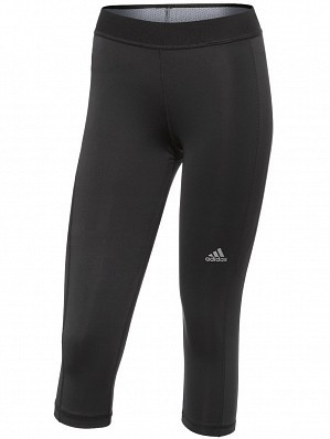 Adidas Women's Pro WTA Player Fall Techfit Tennis Capri Tight Black