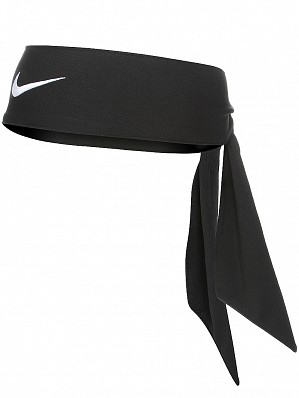 Nike Maria Sharapova & Victoria Azarenka Ladies Long Slim Dri-Fit Head Tie Up Bandana, Black