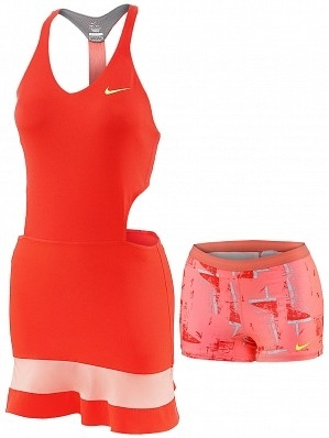 Nike Maria Sharapova Women's 2015 Australian Open Premier Tennis Dress, Red