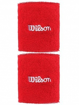 Wilson Pro ATP Player Double Wide Long Tennis Wristbands Red