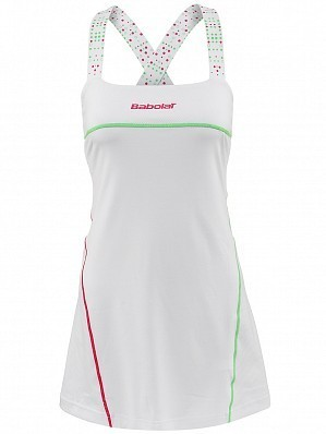 Babolat WTA Match Pro Women Player Ladies Performance Tennis Dress White