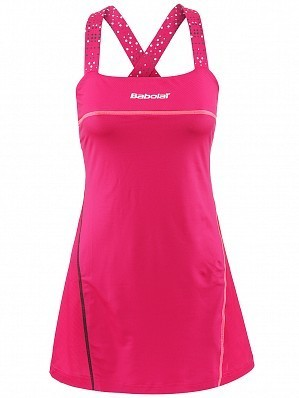 Babolat WTA Match Pro Women Player Ladies Performance Tennis Dress Pink