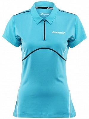 Babolat WTA Match Pro Women Player Ladies Performance Tennis Polo Shirt Blue
