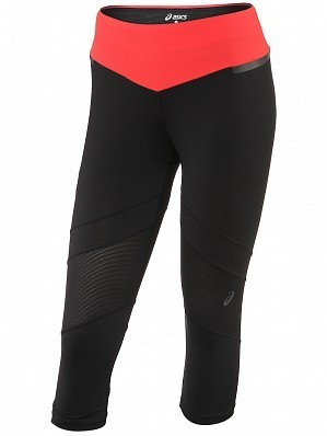 Asics Women's Pro WTA Player Fall 3/4 Tennis Capri Tight Black