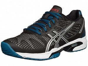 Asics Pro Player 2015 ATP Master Men's Gel-Solution Speed 2 Tennis Shoes Black / Silver