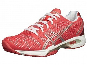 Asics Pro Player 2015 WTA Tour Women's Gel-Solution Speed 2 Tennis Shoes, Red / White