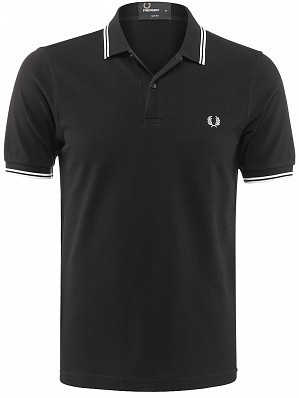 Fred Perry Pro Player Men's Authentic Slim Fit Tennis Polo Shirt, Black