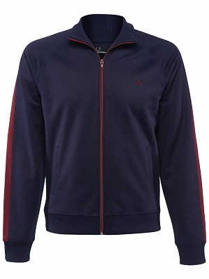 Fred Perry Pro Player Men's Contrast Panel Warm Up Tennis Track Jacket, Blue