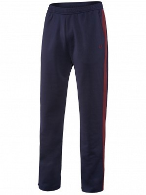 Fred Perry Pro Player Men's Contrast Panel Warm Up Tennis Tracksuit Pant, Blue