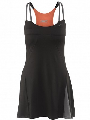 Head WTA Tour Pro Women's Performance Ladies Tennis Dress, Black