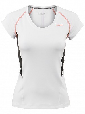 Head WTA Tour Pro Women's Performance V-Neck Tennis Top Shirt, White