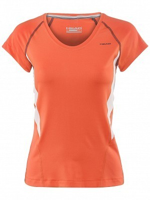 Head WTA Tour Pro Women's Performance V-Neck Tennis Top Shirt, Red