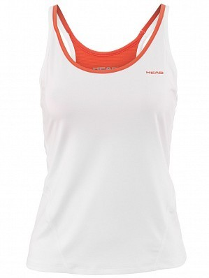 Head WTA Tour Pro Women's Performance Tennis Tank Top Shirt, White