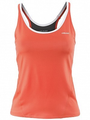 Head WTA Tour Pro Women's Performance Tennis Tank Top Shirt, Red