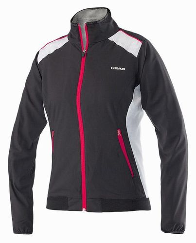 Head WTA Tour Pro Women's Club Technical Tennis Jacket, Black