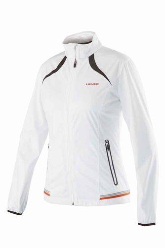 Head WTA Tour Pro Women's Performance Softshell Tennis Jacket, White