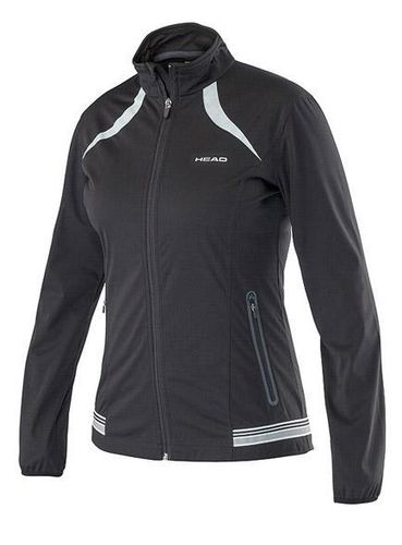 Head WTA Tour Pro Women's Performance Softshell Tennis Jacket, Black