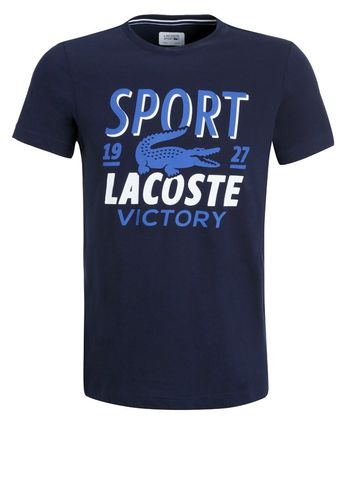 Lacoste ATP Pro Player Printed Men's Tennis Tee Shirt, Navy