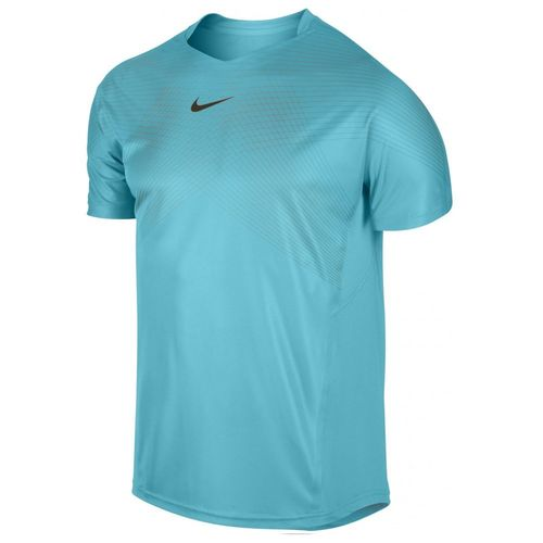 Nike Rafael Nadal 2013 London ATP Master Final Premier Rafa Tennis Crew Shirt, Blue